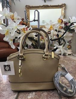NWT Anne Klein Gold Dust New Recruits Mini Dome Satchel Hand