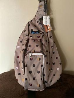 Nwt Kavu Sling Rope Bag Cattitude Sold Out No Longer Made