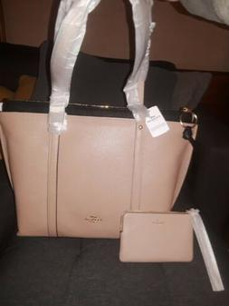 Coach Pebbled Leather May Tote With Matching Wristlet/Wallet