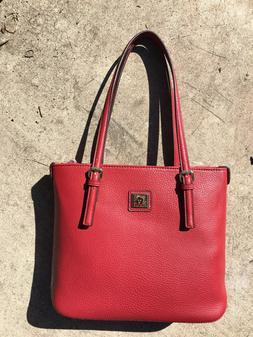 Anne Klein Perfect Small Tote Handbag Red
