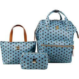 J World New York Posy 3 Piece BackpackTotePouch Backpack Han