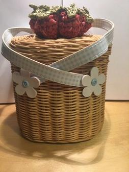 Gymboree purse basket type NWT NWOT or EXC Strawberry Patch