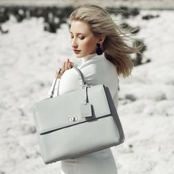 SALE was $349! Clarence Frank Mariarosa Tote- Grey - Womans