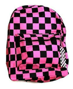 Clover Stylish Pink Checkered Backpack