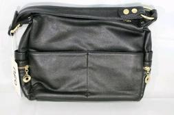 UTO Synthetic Faux Leather Hand Bag Purse Black New