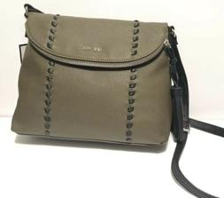 Nine West Tote Purse Shoulder Bag With Army Green Black