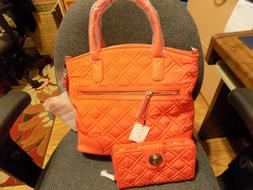 Very Bradley Day Off Satchel Canyon Sunset Purse and Wallet