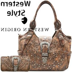 Western Buckle Concealed Carry Purse Country Handbag Women S