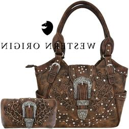 Western Buckle Concealed Carry Purse Country Handbags Women