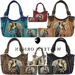 Western Horse Handbags Concealed Carry Purse Women Country S