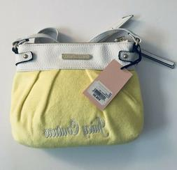 Juicy Couture Woman's New Yellow & White Crossbody Purse w