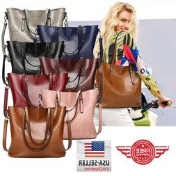 Women Leather Handbag Shoulder Ladies Purse Messenger Satche