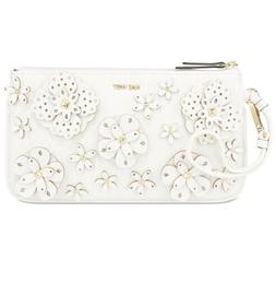 Nine West Women's 3D Floral Wristlet White New With Tags
