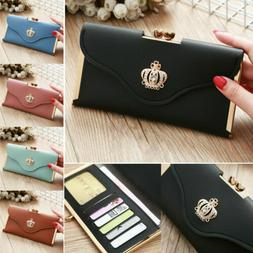 Women's Clutch Leather Wallet Long Card Holder Phone Bag Cas