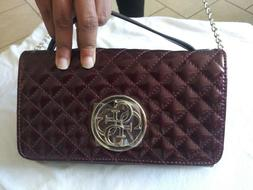 Guess Women's G Lux Mini Quilted Flap-Over Crossbody Handbag