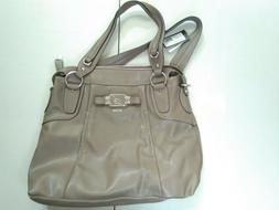 GUESS Women's Handbags Taupe Brown Bellalyn New with Tags