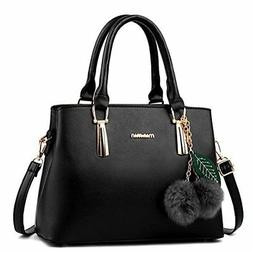 Dreubea Women's Leather Handbag Tote Shoulder Bag Crossbody