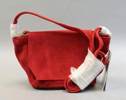 ASOS Women's Leather Over The Shoulder Handbag MW7 Red Small