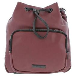 Kenneth Cole Reaction Womens Ruby Red Bucket Backpack Handba