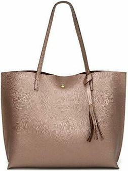 Womens Soft Faux Leather Shoulder Bag from Big Capacity Tass