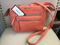 zip top crossbody handbag coral nwt